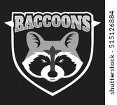 raccoons head logo for sport... | Shutterstock .eps vector #515126884