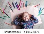 child lying on the floor on...   Shutterstock . vector #515127871