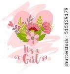 vector greeting card  baby... | Shutterstock .eps vector #515129179