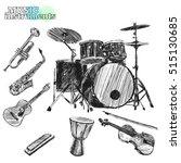 Musical Instruments. Sketch...