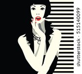fashion woman in style pop art. ... | Shutterstock .eps vector #515140099