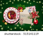 christmas card letter to santa...   Shutterstock .eps vector #515141119