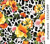seamless floral pattern with... | Shutterstock .eps vector #515142499