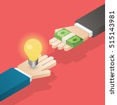 idea trading for money.... | Shutterstock .eps vector #515143981