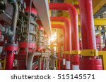 deluge system of firefighting... | Shutterstock . vector #515145571