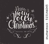 christmas hand lettering design | Shutterstock .eps vector #515146045