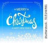 blue christmas background....   Shutterstock .eps vector #515146981