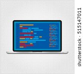 programming and coding. web... | Shutterstock .eps vector #515147011