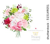 beautiful vector bouquet with... | Shutterstock .eps vector #515149051