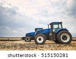 two modern tractors ... | Shutterstock . vector #515150281