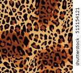 seamless leopard pattern.... | Shutterstock .eps vector #515154121