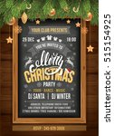 christmas party design template.... | Shutterstock .eps vector #515154925