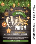 christmas party design template.... | Shutterstock .eps vector #515154967