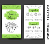 template for dessert menu with... | Shutterstock .eps vector #515165245