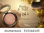 luxury blush ads  golden cheek... | Shutterstock .eps vector #515166145