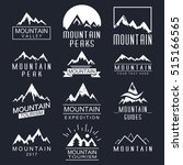 mountain vector icons set. logo ... | Shutterstock .eps vector #515166565