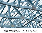 structure of steel roof frame... | Shutterstock . vector #515172661