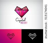 vector chrystal heart icon ... | Shutterstock .eps vector #515174041