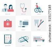 medicine  healthcare  patients... | Shutterstock .eps vector #515177185