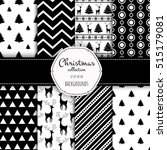 collection of seamless patterns ... | Shutterstock .eps vector #515179081