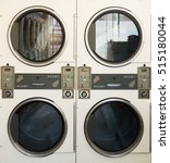 close up row of washing machine ... | Shutterstock . vector #515180044