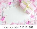 birth of child   blank sheet on ... | Shutterstock . vector #515181181