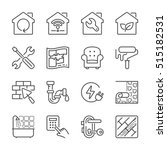 home improvement and repair...   Shutterstock .eps vector #515182531