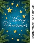 merry christmas greeting card.... | Shutterstock .eps vector #515184931