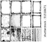 set of frames  textures  lines  ... | Shutterstock .eps vector #51518671