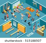 gym isometric template with... | Shutterstock .eps vector #515188507