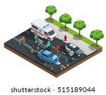 isometric road accident... | Shutterstock .eps vector #515189044
