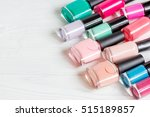 bottles of colored nail polish... | Shutterstock . vector #515189857