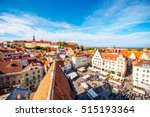 aerial view on the old town... | Shutterstock . vector #515193364