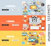 flat concept set of e commerce  ... | Shutterstock .eps vector #515194075