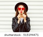 fashion portrait pretty sweet... | Shutterstock . vector #515194471