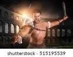ancient warrior or gladiator... | Shutterstock . vector #515195539