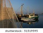 Fishing Boat And Fishing Net