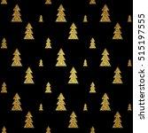 seamless pattern of gold... | Shutterstock .eps vector #515197555