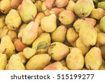pears close up from... | Shutterstock . vector #515199277