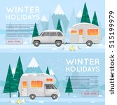 camping and hiking. camper.... | Shutterstock .eps vector #515199979