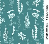 Seamless Pattern With Corals...