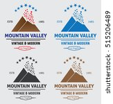 mountain tourism logos | Shutterstock .eps vector #515206489