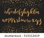 calligraphic brush pen font... | Shutterstock .eps vector #515213419