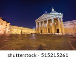 pantheon at night  paris ... | Shutterstock . vector #515215261