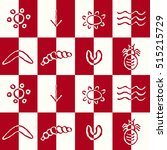 seamless pattern with symbols... | Shutterstock .eps vector #515215729