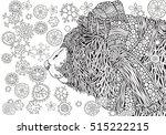 cute winter bear in knitted hat ... | Shutterstock .eps vector #515222215