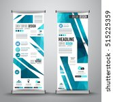 advertisement roll up business... | Shutterstock .eps vector #515225359