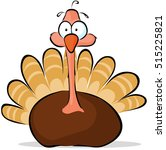 turkey   cute vector... | Shutterstock .eps vector #515225821