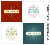 christmas greeting cards... | Shutterstock .eps vector #515225851