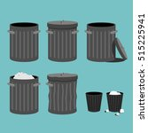 bin icon. collection. vector... | Shutterstock .eps vector #515225941
